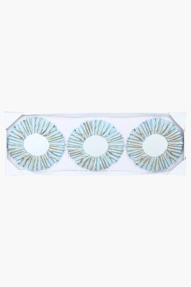 IVY Aqua Blue Mirror Set Of 3