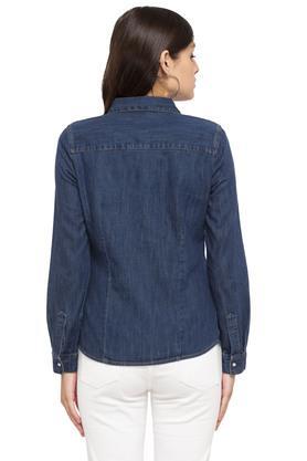 Womens 2 Pocket Washed Shirt