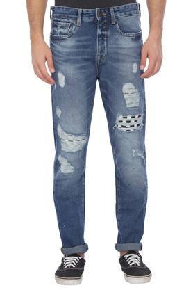 aebd4eb5be87 X JACK AND JONES Mens 5 Pocket Distressed Jeans