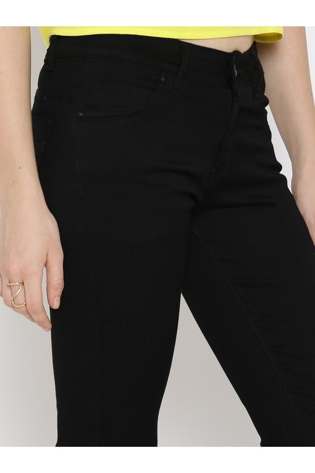 Womens 4 Pocket Skinny Fit Coated Jeans