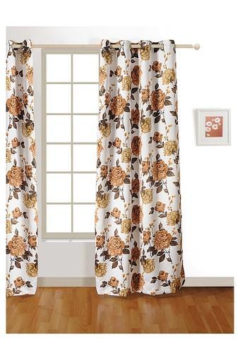 Floral Print Door Curtain
