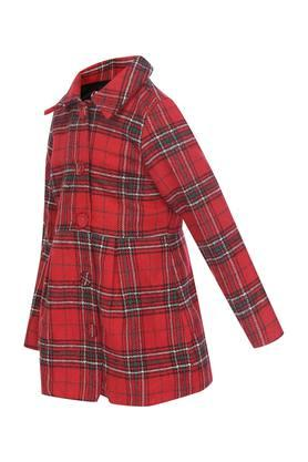 Girls Collared Check Jacket