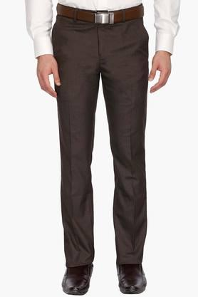 LOUIS PHILIPPE Mens 4 Pocket Slub Formal Trousers - 203032194