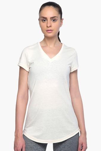 Womens V Neck Slub T-Shirt