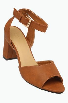 ALLEN SOLLY Womens Party Wear Buckle Closure Heels