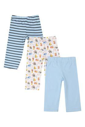 Boys Printed Striped and Solid Pyjama - Pack of 3