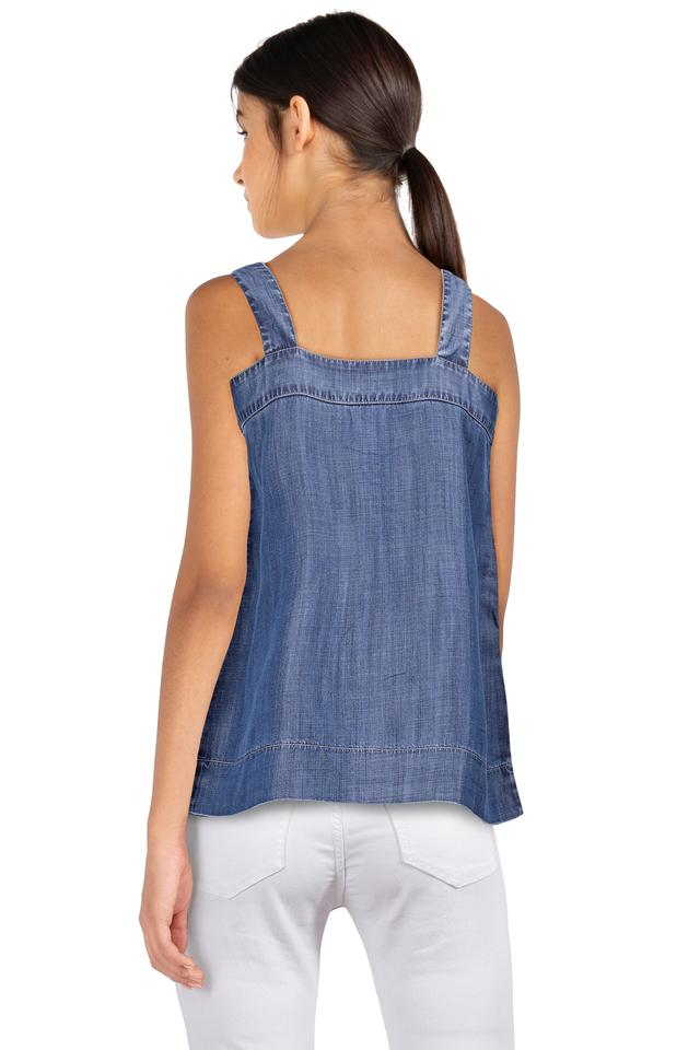 Womens Square Neck Washed Top