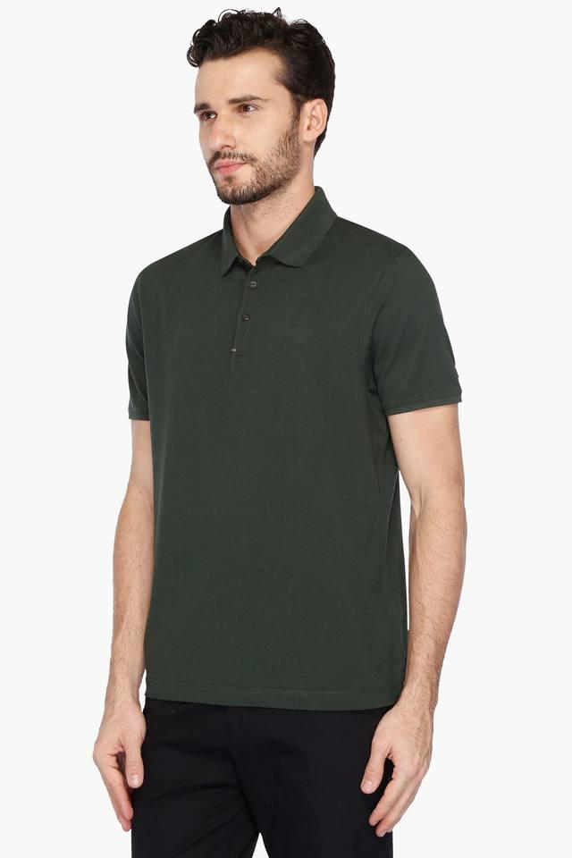 8dc11fb2 Buy BLACKBERRY'S URBAN Mens Slim Fit Solid Polo T-Shirt   Shoppers Stop