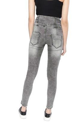 X Nush Womens 5 Pocket Mild Wash Jeans