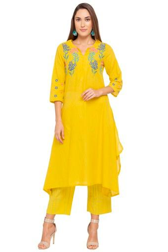 Womens Notched Collar Embroidered Pant Suit