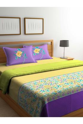 PORTICO Floral Printed Double Duvet Cover With Bed Sheet And Pillow Cover Combo - 203990000_9900