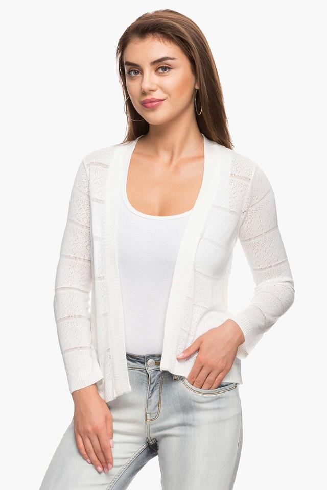 Womens Open Neck Perforated Jacket