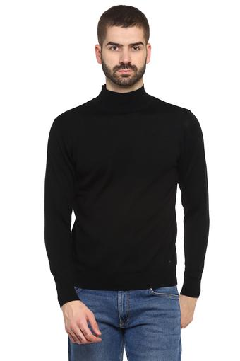 Mens High Neck Solid Pullover