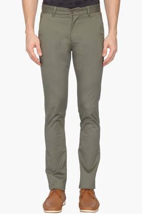 UNITED COLORS OF BENETTON Mens Slim Fit 4 Pocket Solid Chinos - 203024689