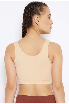 Womens Padded Non Wired Sports Bra