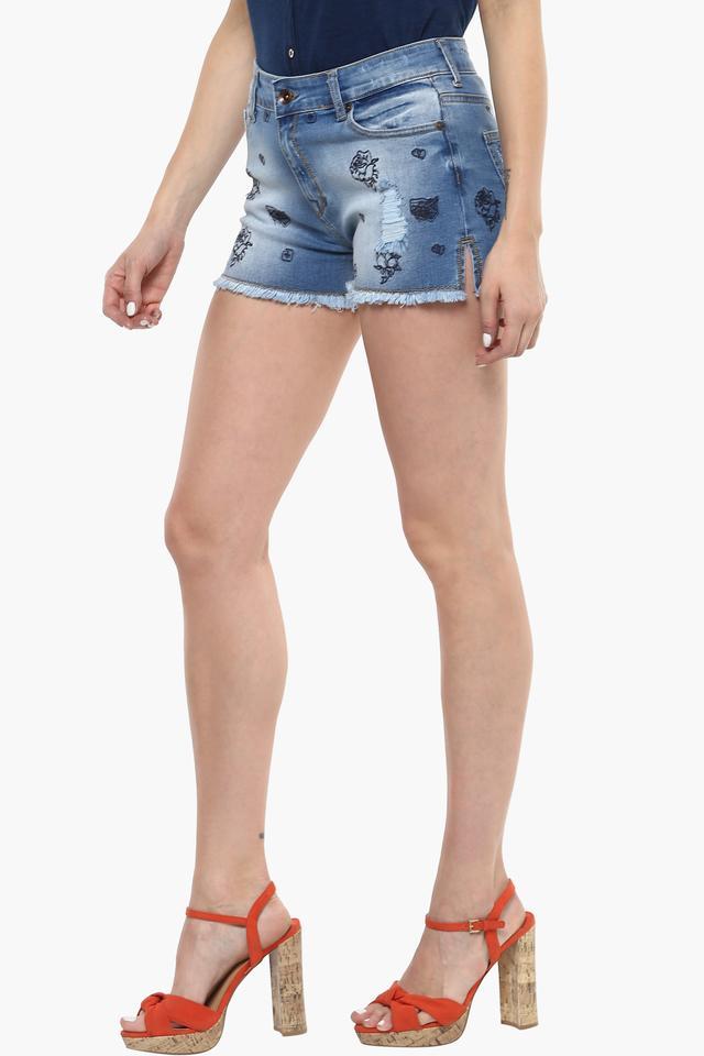 Womens 5 Pocket Printed Shorts