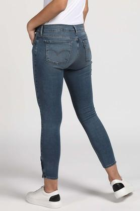 Womens 5 Pocket Vintage Wash Jeans