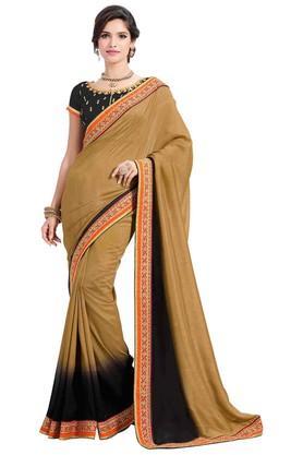 ASHIKAPlain Soft Silk Saree With Blouse Piece