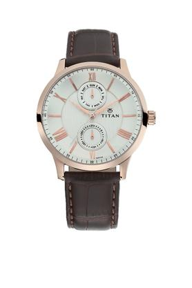 Mens Analogue Leather Watch - 90100WL01