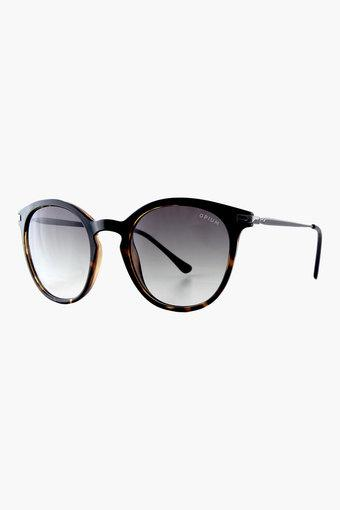 Womens Round Gradient Sunglasses