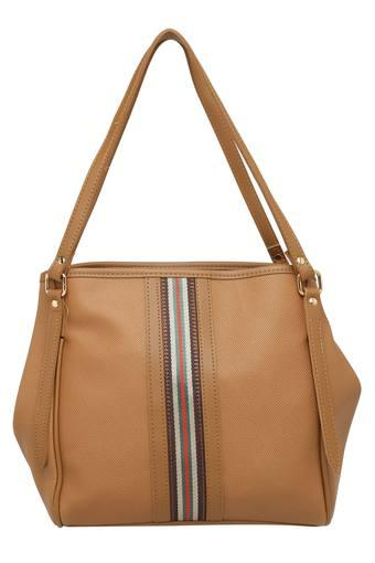 Womens Zip Closure Shoulder Handbag