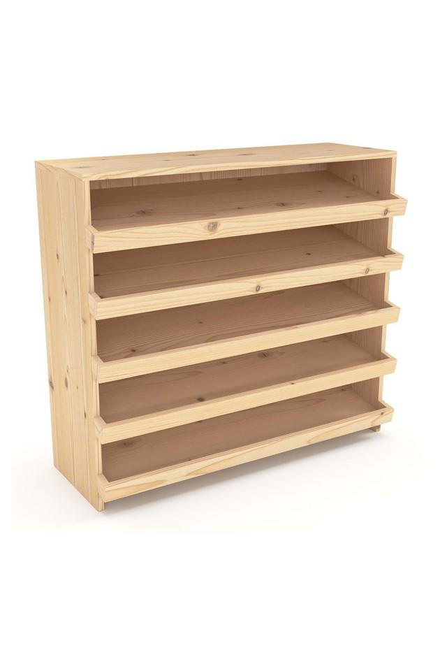 Natural Shoe Rack in Natural Finish