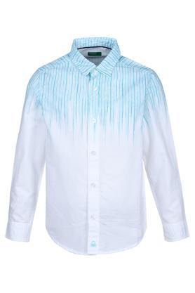 Boys Ombre Print Casual Shirt