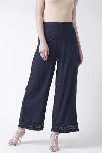 Womens Ankle Length Solid Pants