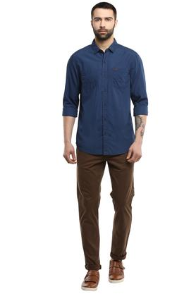 Mens 2 Pocket Solid Shirt