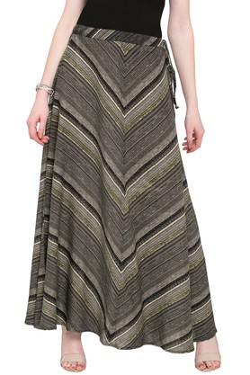 IMARA Womens Stripe Long Skirt