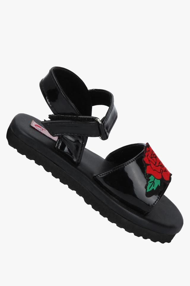 Girls Party Wear Velcro Closure Sandals