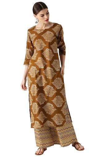LIBAS -  BrownSalwar & Churidar Suits - Main