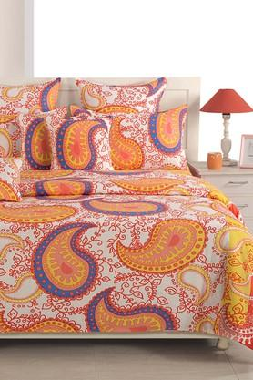 Ethnic Double Bed Sheet with 2 Pillow Covers