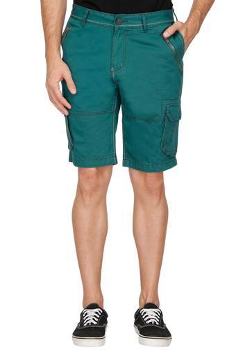 Mens 8 Pocket Solid Shorts