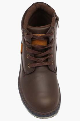 Boys Leather Lace Up Boots