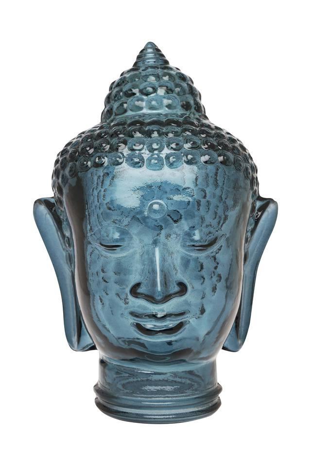 Glass Textured Buddha Show Piece