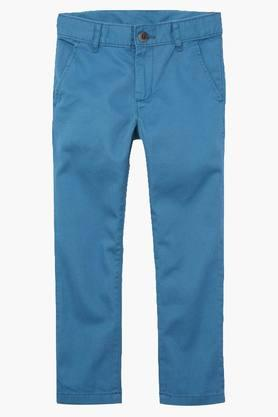Boys Skinny Fit Solid Chinos