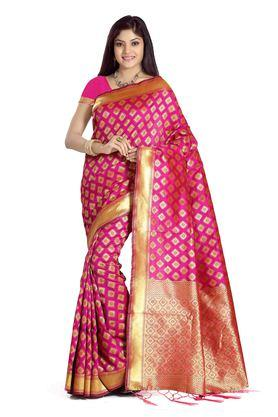 DEMARCA Womens Banarasi Silk Art Silk Designer Saree - 204100112_9557