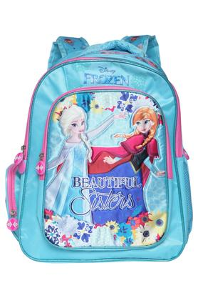 Girls Frozen Princess 3 Compartment Zip Closure Backpack