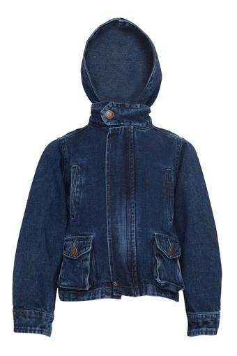 Boys Hooded Washed Jacket