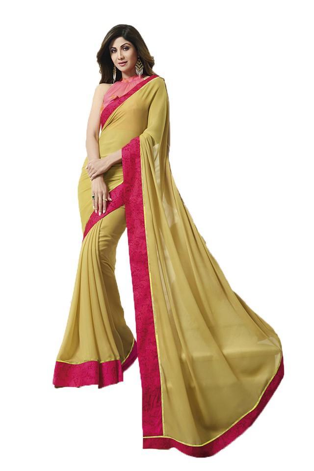 Womens Solid Saree