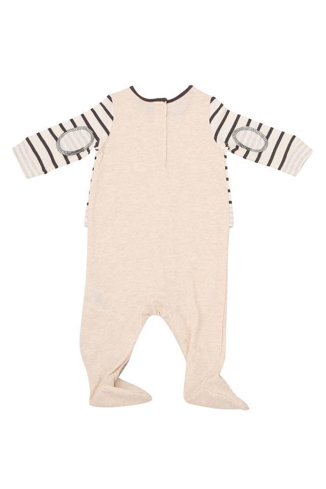 Unisex Round Neck Stripe Bodysuit