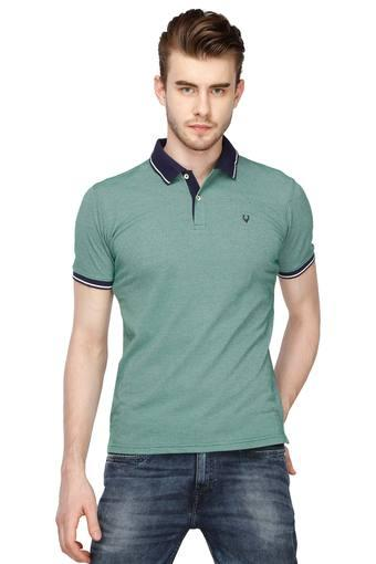ALLEN SOLLY -  Green T-shirts - Main