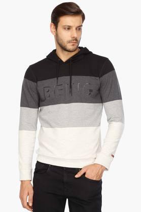 BEING HUMANMens Round Neck Slim Fit Sweatshirt
