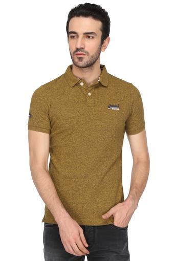 Mens Textured Polo T-Shirt