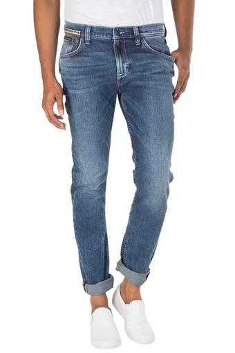 Mens Skinny Fit Rinse Wash Jeans