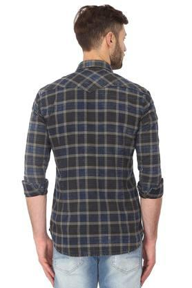 Mens Slim Fit 2 Pocket Checked Shirt