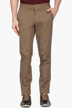 LOUIS PHILIPPE SPORTS Mens 4 Pocket Solid Chinos - 203146870