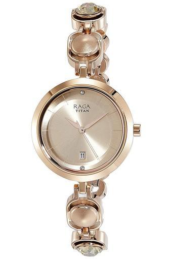 Womens Rose Gold Dial Analogue Watch - 2606WM02