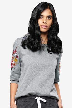 NUSHWomens Textured Sweatshirt